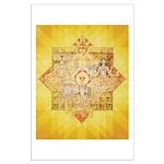 1st Chakra Mandala Large Poster