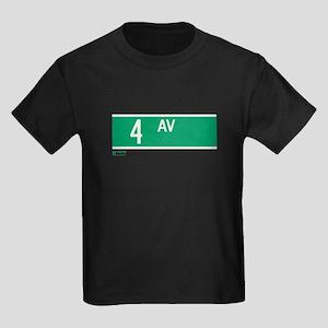 4th Avenue in NY Kids Dark T-Shirt