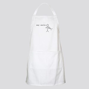 say uncle. BBQ Apron
