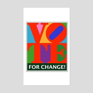 Vote for Change! Rectangle Sticker