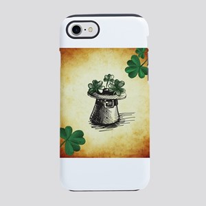Black Stenciled Leprechaun H iPhone 8/7 Tough Case