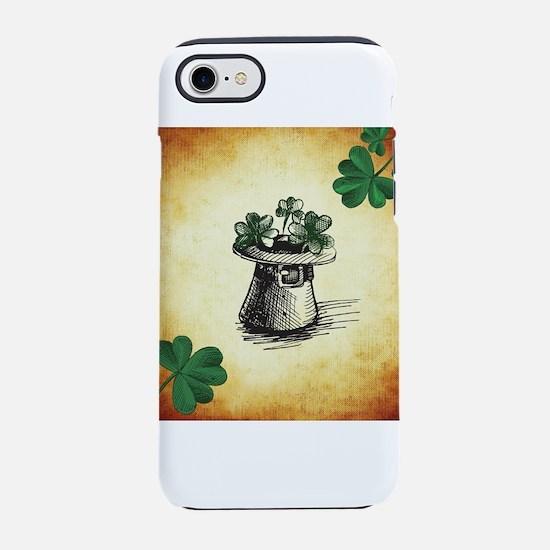 Black Stenciled Leprechaun H iPhone 8/7 Tough Case