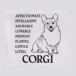 LOYAL CORGI Throw Blanket