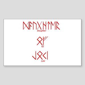 Daughter Of Loki Rectangle Sticker