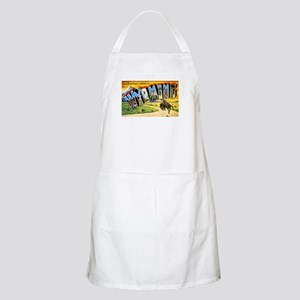 Wyoming Greetings BBQ Apron