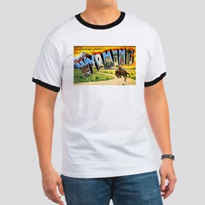 Wyoming Greetings (Front) Ringer T
