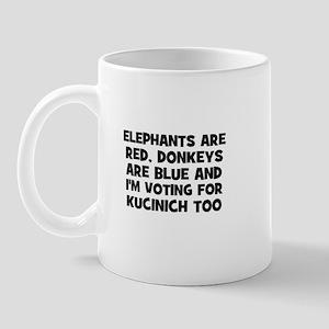Elephants are red, Donkeys ar Mug