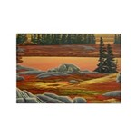 Polar Bear Art Rectangle Magnet (100 pack)