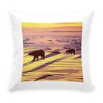 Polar Bear Art Everyday Pillow