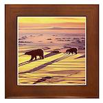 Polar Bear Art Framed Tile