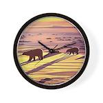 Polar Bear Art Wall Clock