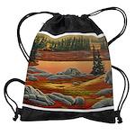 Polar Bear Art Drawstring Bag