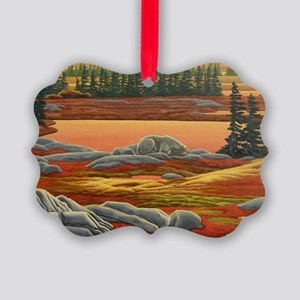 Polar Bear Art Picture Ornament