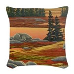 Polar Bear Art Woven Throw Pillow