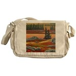 Polar Bear Art Messenger Bag