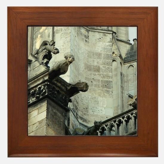 Gargoyles 1 Framed Tile