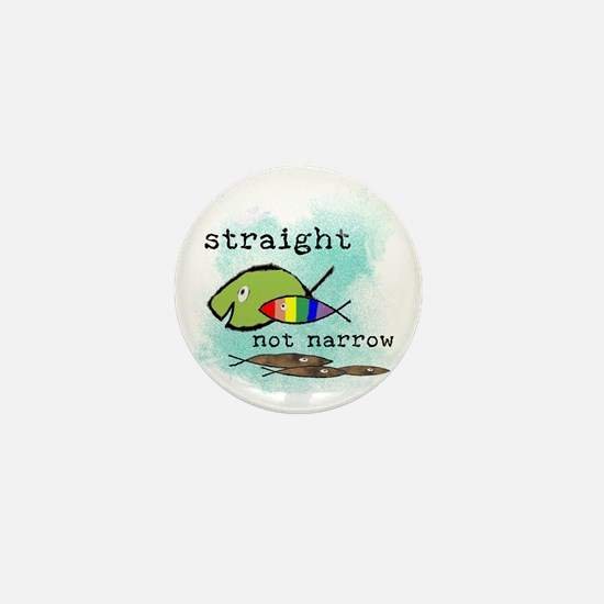 Straight But Not Narrow Mini Button (10 pack)