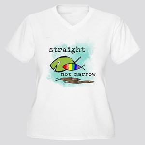 Straight But Not Narrow Women's Plus Size V-Neck T