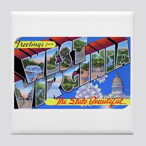 West Virginia Greetings Tile Coaster
