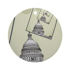 Political Spin Round Ornament