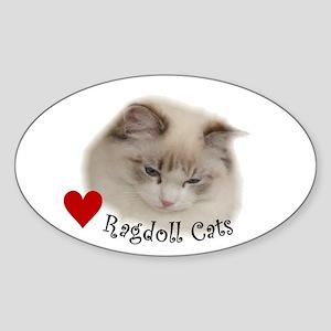 Ragdoll Oval Sticker