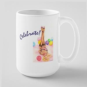 """Party Doll """"Celebrate""""   Large Mug"""