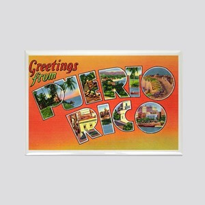 Puerto Rico Greetings Rectangle Magnet