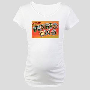 Puerto Rico Greetings (Front) Maternity T-Shirt