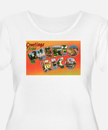 Puerto Rico Greetings (Front) T-Shirt