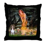 MidEve Sheltie (S) Throw Pillow