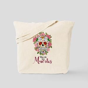 SKULL DIA DE LOS MUERTES Tote Bag