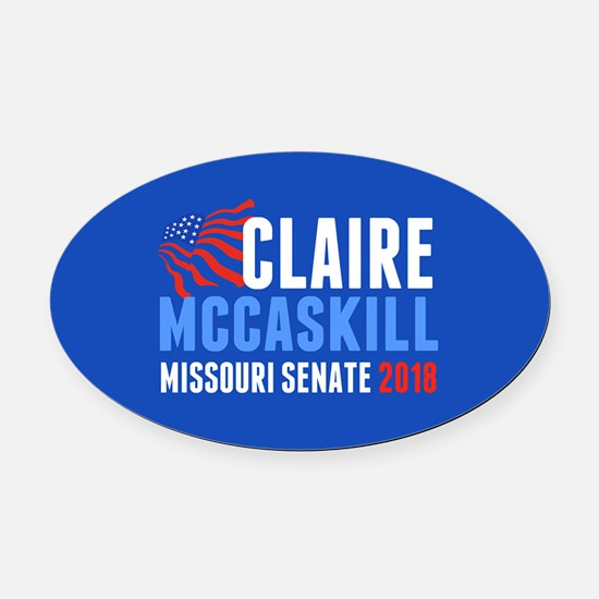 Claire McCaskill 2018 Oval Car Magnet