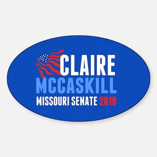 Claire McCaskill 2018 Sticker (Oval)