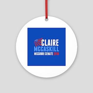 Claire McCaskill 2018 Round Ornament