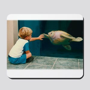 Boy and Turtle Mousepad