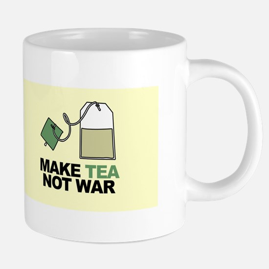 Make Tea Not War Stainless Steel Travel Mugs