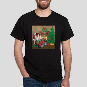 Santa's Ferrets Christmas Dark T-Shirt