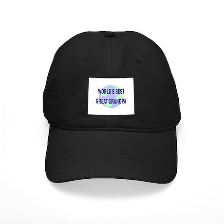 World's Best Great Grandpa Black Cap
