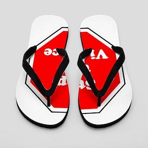Stop the violence Flip Flops
