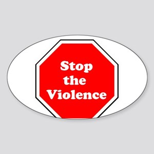 Stop the violence Sticker