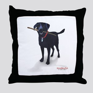 STICK CHASER Throw Pillow