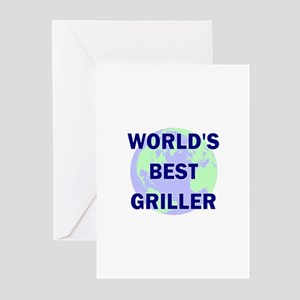 World's Best Griller Greeting Cards (Pk of 10)