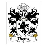Thorne Family Crest Small Poster