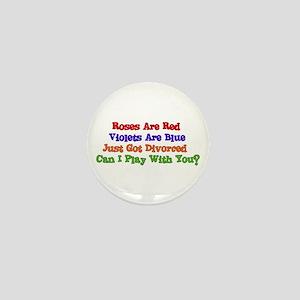 Divorced Valentine Mini Button