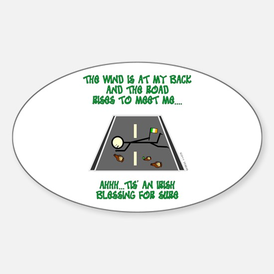 Irish Blessing Oval Decal