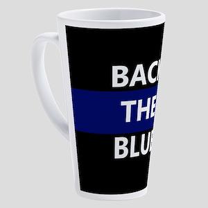 BACK THE BLUE 17 oz Latte Mug