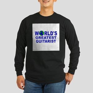 World's Greatest Guitarist Long Sleeve Dark T-Shir