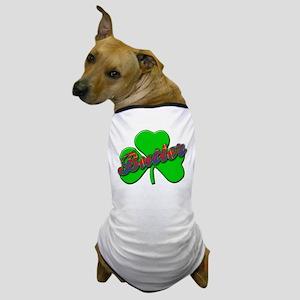 BUTLER Name, Tartan and Shamrock Dog T-Shirt