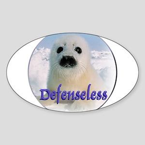 Defenseless Oval Sticker