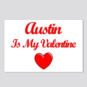 Austin is my Valentine Postcards (Package of 8)